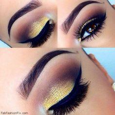 Makeup: Golden Smokey Eye Makeup Tutorial by Lisa Eldridge | Fab Fashion Fix