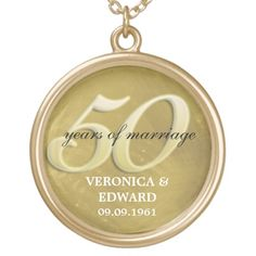 Shop Golden Anniversary Necklace created by starstreamdesign. Golden Anniversary, Black Felt, Anniversary Parties, Special Gifts, Wedding Gifts, Names, Wedding Necklaces, Accessories, 50th