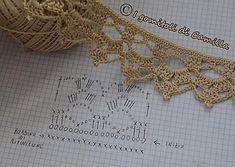 Captivating All About Crochet Ideas. Awe Inspiring All About Crochet Ideas. Crochet Borders, Crochet Stitches, Crochet Patterns, Bead Embroidery Jewelry, Beaded Embroidery, Crochet Home, Crochet Trim, Flea Market Crafts, Crochet Bikini Pattern