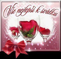 Přání k svátku - Obrázková přání Wine Glass Images, Happy Birthday Quotes, Beautiful Roses, Watermelon, Alcoholic Drinks, Fruit, Tattoo, Pictures, Happy Birthday Captions