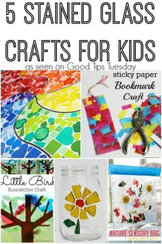 5 Stained Glass Crafts for Kids