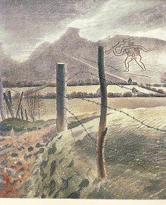 Eric Ravilious Contemporary Landscape, Landscape Art, Landscape Paintings, Photo Illustration, Illustrations, British Artists, Royal College Of Art, East Sussex, Travel Posters