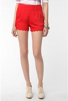 Lucca Couture Chiffon Scalloped Short, Red or Black 0, via Urban Outfitters.