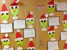 "We read ""How the Grinch Stole Christmas"" and made a Grinch and completed some writing exercise to go along with them."