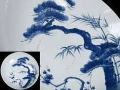 藍鍋島 尺皿 希少極上品 江戸期