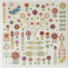 Garden cushion embroidery kit