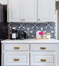 keurig station on kitchen countertop