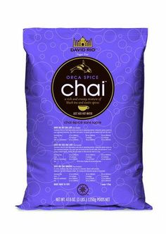 Orca Spice Sugar Free - David Rio's original sugar-free chai is a rich and creamy mixture of black tea and premium spices and made with zero calorie, zero carbs Splenda®.