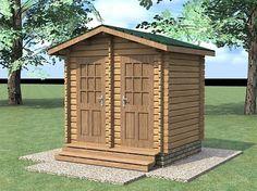 62400 руб  $1076  Душ-туалет из бруса «Дуэт»