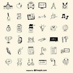 ícones da escola estilo de desenho
