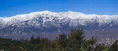 Vista Cordillera de Los Andes, Región Metropolitana, Chile.