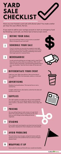 Best yard sale checklist: The ultimate guide to garage sale prep