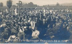 PK AK Steiermark Foto Krieglach Rossegger 1918 Begräbnis 1918 Friedhof Nr. 2 Concert, Movies, Movie Posters, Pictures, Postcards, Films, Film Poster, Concerts, Cinema