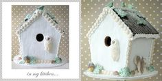 birdhouse cake with owl by Torie Jayne