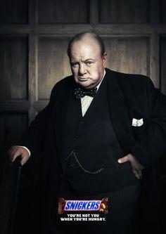 Snickers: Churchill & Queen