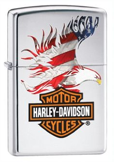 Zippo Harley-Davidson Eagle Wings Pocket Lighter *** A special product just for you. : Safety and Survival Zippo Harley Davidson, Harley Davidson Flags, Black Harley Davidson, Motor Harley Davidson Cycles, Haley Davidson, Lighter Fuel, American Flag Eagle, Eagle Wings, Pocket Light