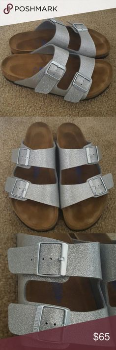Birkenstocks Sparkly Birkenstocks- only worn twice ***Sorry no trades *** Firm on price  Thank you Birkenstock Shoes Sandals