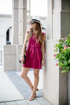 Summer Eyelet Dress, Valentino Rockstud Sandals, Gucci Bamboo Bag, ASOS Cat eye Sunglasses, Panama Hat | The Girl from Panama