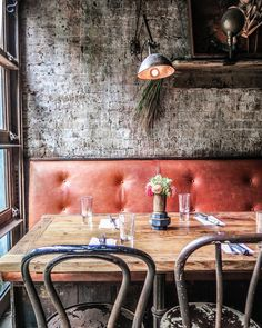 Edi & The Wolf, NYC- lovely textures and worn quality creates this timeless unpretentious environment.