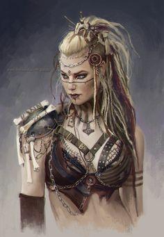 Study 01 by Ukitoki on DeviantArt Fantasy Female Warrior, Fantasy Women, Fantasy Girl, Female Art, Female Warrior Costume, Viking Warrior Woman, Warrior Girl, Warrior Women, Fantasy Inspiration