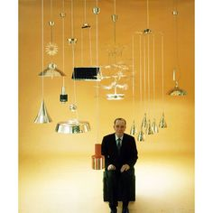"""Paavo Tynell at the age of featured with his lamps in Times Magazine, Headline of the article: """"Hight Lights of a Lighting Genius"""" Nordic Design, Scandinavian Design, Lamp Design, Lighting Design, Wall Lights, Ceiling Lights, Mid Century Lighting, Ceiling Lamp, Pendant Lamp"""