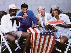 War Babies (1992) Los Angeles. Left to right: Ed Bereal, Ed Ruscha, Joe Goode, Ron Miyashiro. Photo: Jerry McMillan.