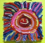 Artsonia Art Exhibit :: 3rd-Huichol Indian Sun Yarn Painting