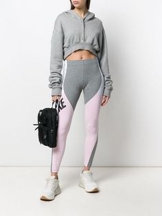 8719722e0496 Nike Grey And Pink Performance Leggings