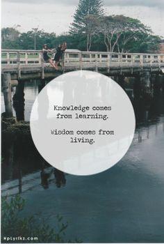 Knowledge v Wisdom