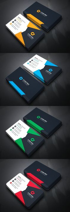 Discover more than business cards to create a professional identity in any field. Choose from standard, square, folded, and other formats in a variety of styles and colors, with matching resume and logo templates. Cool Business Cards, Business Card Design, Creative Business, Corporate Business, Visiting Card Design, Bussiness Card, Cool Cards, Card Templates, Flyer Design