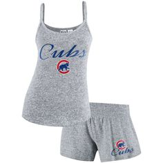 Chicago Cubs Concepts Sport Women's Reprise Knit and Tank Shorts Set - Gray - $39.99
