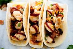 BBQ chicken tacos! These are so good!
