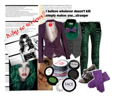 """""""Why So Serious?"""" by sage-forever ❤ liked on Polyvore featuring Arche, Balmain, Wet Seal, Vivienne Westwood Red Label, Manic Panic NYC and FACE Stockholm"""