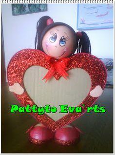 Pattyto Eva`rts: Fofuchita con cuadro para san Valentin