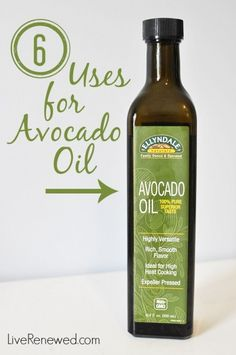 Have you tried this healthy, real food oil yet? Here's 6 Uses for Avocado Oil to get you started! at LiveRenewed.com