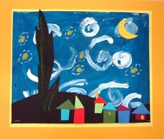 Like the combination of painting and collage   For the Love of Art: 2nd Grade