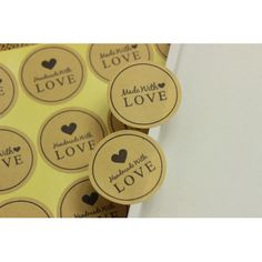 Samolepky HAND MADE XII.- 12ks Love W, Barware, Handmade, Hand Made, Handarbeit, Tumbler