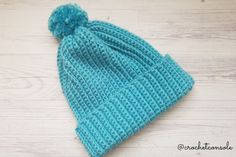 Gorro a crochet para principiantes-Crochet con Sole13 Crochet For Beginners, Beginner Crochet, Diy Crochet, Crochet Projects, Knitted Hats, Knitting, Beanies, Winter Time, Crochet Beanie Pattern