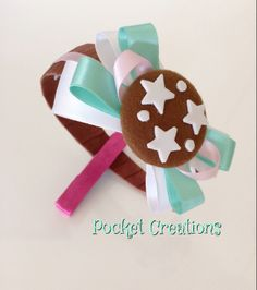 CERCHIETTO PAN DI STELLE. #handmade #feltro #felt #ribbon #cookies #biscotti #hairband #headband #hair #capelli