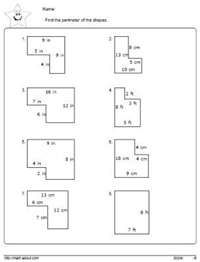 math worksheet : area worksheet 3rd grade geometry worksheet to find the area of  : Perimeter Math Worksheets
