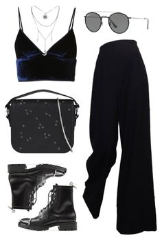 """""""Untitled #20992"""" by florencia95 ❤ liked on Polyvore featuring T By Alexander Wang, Ray-Ban, AllSaints, The Row and Alexander Wang"""