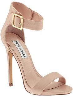 nude ankle strap buckle heel Steve Madden Marlenee heels
