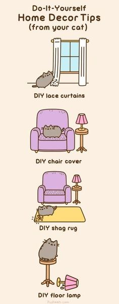 Pusheen: Do-It-Yourself Home Decor Tips (from your cat)