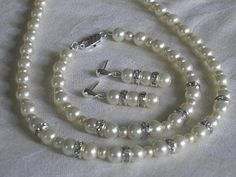 Bridal Wedding Pearl Jewelry White or Ivory by lakehousejewelrybd, $38.00