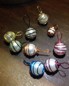 Swarovski pearls with Zebra wire