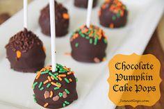 Jenna's Journey: SUPER SIMPLE Chocolate Pumpkin Cake Pops