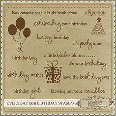 Digital stamps - birthday (digichick)