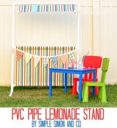 PVC Pipe Lemonade Stand that can turn into a Puppet Theater, too!