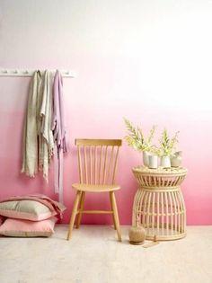 Pink anteroom set wall color wall design ideas