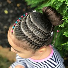"""897 Likes, 147 Comments - Adriana (@little_princess_hairstyle) on Instagram: """"Side braids and elastics  SWIPE FOR ANOTHER VIEWS . #braid #braidfeatures #braidingcommunity…"""""""